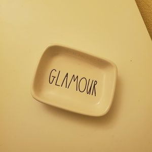 """NWOT """"Glamour"""" Rae Dunn Jewelry Plate"""